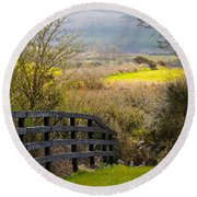Irish Countryside In Spring Round Beach Towel
