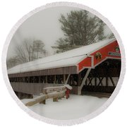 Jackson Nh Covered Bridge Round Beach Towel