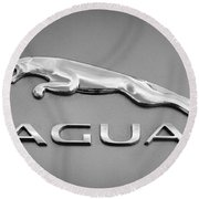 Jaguar F Type Emblem Round Beach Towel