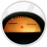 Round Beach Towel featuring the photograph Japanese Doll by Henrik Lehnerer