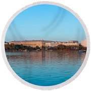 Jefferson Memorial And Washington Round Beach Towel