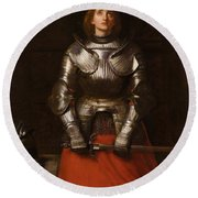 Joan Of Arc  Round Beach Towel