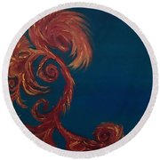 Jumbie Under De' Ocean Round Beach Towel by Robert Nickologianis