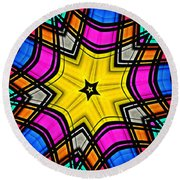 Kaleidoscope 4 Round Beach Towel