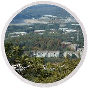 Kennesaw Battlefield Mountain Round Beach Towel