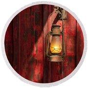 Kerosene Lantern Round Beach Towel