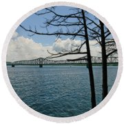 Kimberling City Bridge Round Beach Towel