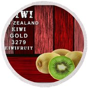 Kiwi Farm Round Beach Towel