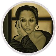 Kristin Scott Thomas Round Beach Towel
