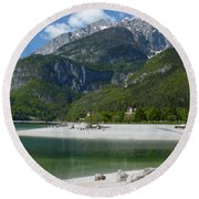 Round Beach Towel featuring the photograph Lago Di Molveno - Italy by Phil Banks