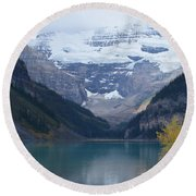 Lake Louise In Fall Round Beach Towel