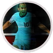 Landon Donovan Round Beach Towel