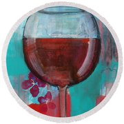 Round Beach Towel featuring the painting Let It Breathe by Robin Maria Pedrero