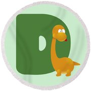 Letter D Round Beach Towel by Gina Dsgn