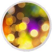 Light Circles Round Beach Towel by Susan Stone