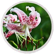 Lily Flower Round Beach Towel