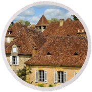 Round Beach Towel featuring the photograph Limeuil En Perigord by Dany Lison