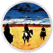 Long Journey Home Round Beach Towel