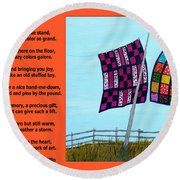Love Of A Quilt  Round Beach Towel by Barbara Griffin