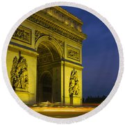 Low Angle View Of A Monument, Arc De Round Beach Towel