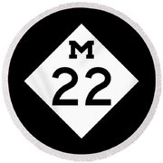 M 22 Round Beach Towel