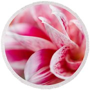 Macro Image Of A Pink Flower Round Beach Towel