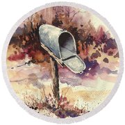 Mailbox Round Beach Towel