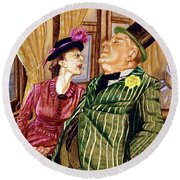 Margaret And W.c. Fields Round Beach Towel