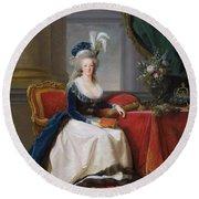 Marie Antoinette Round Beach Towel by Elisabeth Louise Vigee-Lebrun