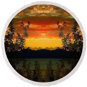 Round Beach Towel featuring the photograph Marsh Lake - Yukon by Juergen Weiss