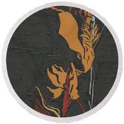 Martin Luther Mccoy Round Beach Towel