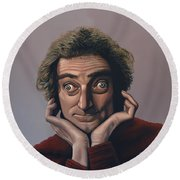 Marty Feldman Round Beach Towel