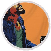 Marvin Gaye Round Beach Towel