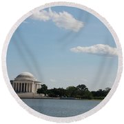 Memorial By The Water Round Beach Towel
