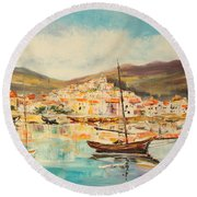 Mentone Harbour Round Beach Towel