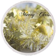 Round Beach Towel featuring the photograph Merry Christmas by Jocelyn Friis