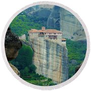 Meteora Round Beach Towel