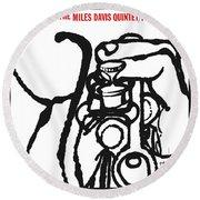 Miles Davis Quintet -  Cookin' With The Miles Davis Quintet Round Beach Towel