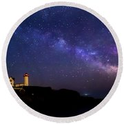 Milky Way Round Beach Towel