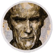 Round Beach Towel featuring the painting Million Dollar Baby by Laur Iduc