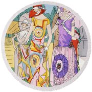 Modes Of The Moment Round Beach Towel