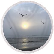 Moment Of Grace Round Beach Towel