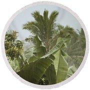Monsoon Rains In Sri Lanka Round Beach Towel