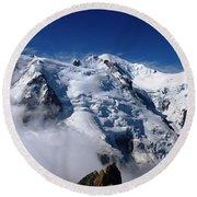 Mont Blanc - France Round Beach Towel