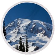 Mount Ranier Round Beach Towel