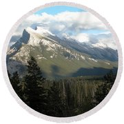 Mount Rundle Round Beach Towel by Stuart Turnbull