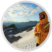Mountaineering Round Beach Towel