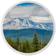 Mt. Adams From Indian Heaven Wilderness Round Beach Towel by Patricia Babbitt