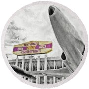 National Champions - Hdr Surreal Round Beach Towel