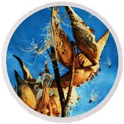 Nature's Launch Pad Round Beach Towel